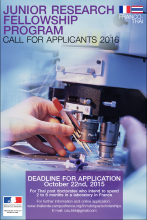 Thaïlande : Appel 2016 Junior Research Fellowship Programme